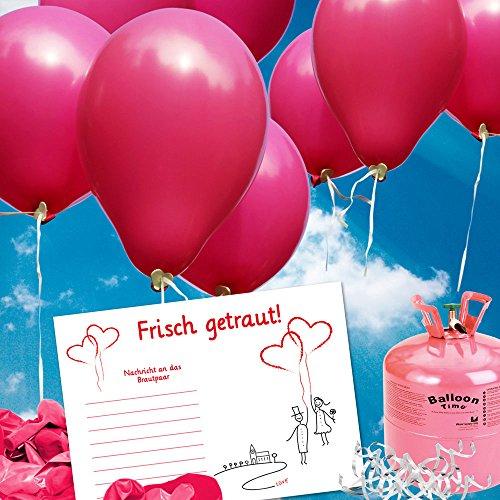 galleryy.net 50 Ballonflugkarten zur Hochzeit GELOCHT, Flugkarten für Hochzeitsballons im Set zum Hochzeitsspiel im Ballonflugkartenset - Hochzeit Luftballon-Hochzeitspaar
