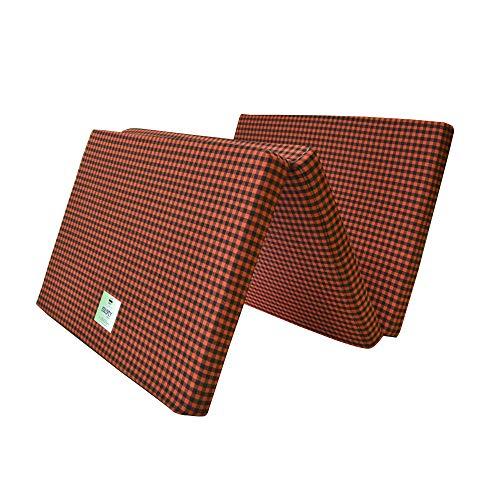Colofly Three Fold Dual Comfort Reversible 3 Inch EPE Foam Single Bed Medium Mattress (Red & Black, 72X35X3 Inch)