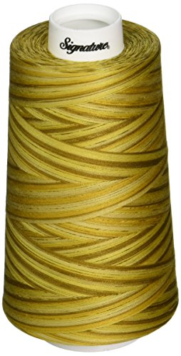 Fantastic Prices! Signature 3 Ply Cotton Quilting Thread, 40wt/3000 yd, Variegated Antique Gold