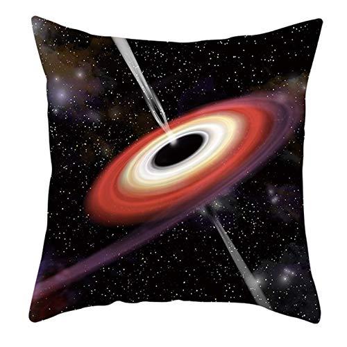 KnBoB Funda de Almohada 50 x 50 cm Poliéster Azul Púrpura Rojo Estrella del Universo Estilo 5