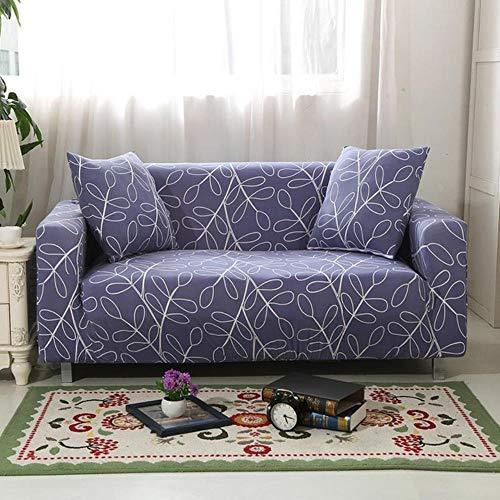 Funda de sofá gris Fundas para muebles elásticas Fundas de sofá elásticas para sala de estar Funda de asiento con funda deslizante funda de asiento de spandex sofá 1-4 plazas, color 19,4-plazas (235-