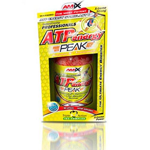 Amix, ATP Energy, Suplemento Alimenticio, Revitalizante con ATP, Mejora la Recuperación Muscular, Rápida Obtención de Energía, Retrasa la aparición del cansancio, 90 Comprimidos