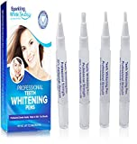 Sparkling White Smiles 4 Pack Professional Teeth Whitening Pens - New Improved - Better Value - Fast Teeth Whitening Results - Dental Office Strength