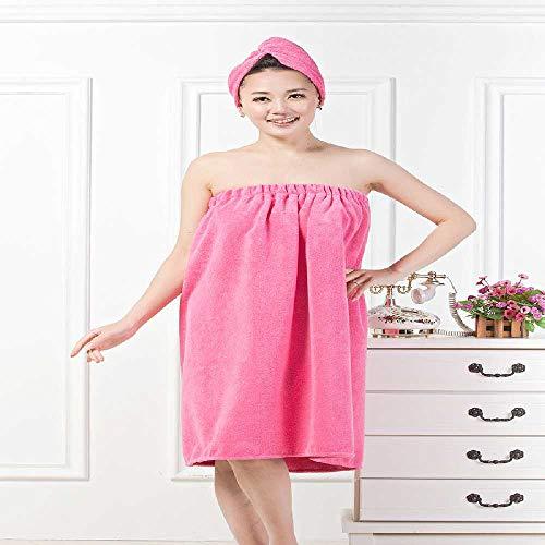 Jingbo Spot Lieferung von neuen Badehandtuch Badehose super absorbierend und Dicker 100 -Wechsel Badezimmerrock trockene Haarkappe 70 * 140/Rote Rose