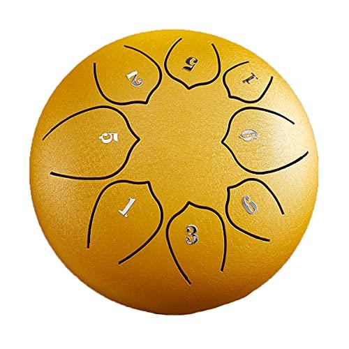 Tambor de lengua de acero de 15,8 cm - 8 notas 6 pulgadas - Instrumento de percusión - Tambor de mano con bolsa, libro de música, mazos, púas para los dedos