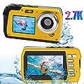 Underwater Waterproof Digital Camera for Snorkeling 48MP 2.7K Waterproof Video Camcorder Selfie Dual Screen Video Camera Point Shoot Digital Camera from Kansing