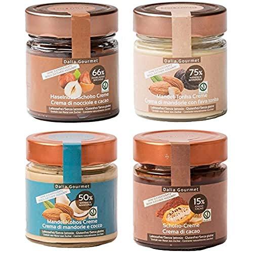 Dalia Gourmet - Creme Spalmabili Prodotte In Italia e Senza Aggiunta di Zuccheri (Dolcificato con Eritritolo - Stevia), 800G