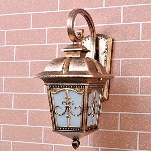 TJLSS Tradizionale Classica Lampada da Parete-Esterna a Parete Illuminazione Interna a Parete Lampstand Terrazza Parete Esterna della Lampada Paesaggio (Color : Brass)