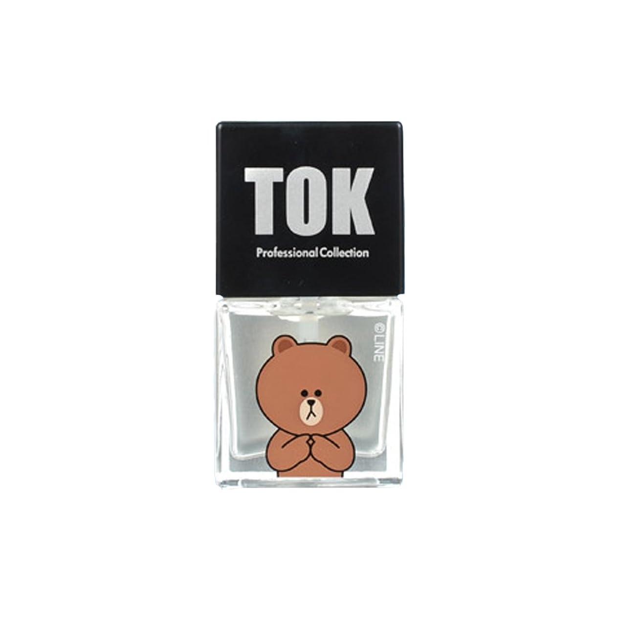 オーナメント爆風ものTOK Line Friends ネイル基本ケア ベースコート トップコート キューティクルオイル キューティクルリムーバー 栄養剤 /TOK Line Friends Nail Hybrid Basic Care[海外直送品] (Top Coat(トップコート)) [並行輸入品]