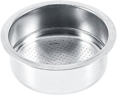 Filtro de café de acero inoxidable, 2 tazas accesorios de la máquina de café con filtro de cesta de filtro no presuri...