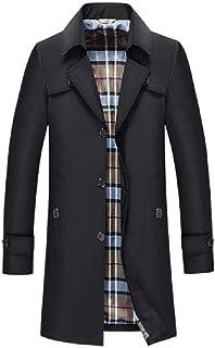 junfeng Men's Single Breasted Trench Coat Slim Lapel Casual Commuting Wild Fashion Medium Long Coat