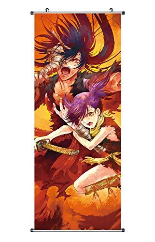 CoolChange Großes Dororo Rollbild/Kakemono aus Stoff Poster, 100x40cm, Motiv: Hyakkimaru & Dororo