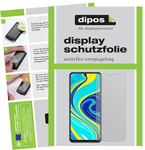 dipos I 6X Schutzfolie matt kompatibel mit Xiaomi Redmi Note 9 Pro Folie Bildschirmschutzfolie (3X Vorderseite + 3X Rückseite)