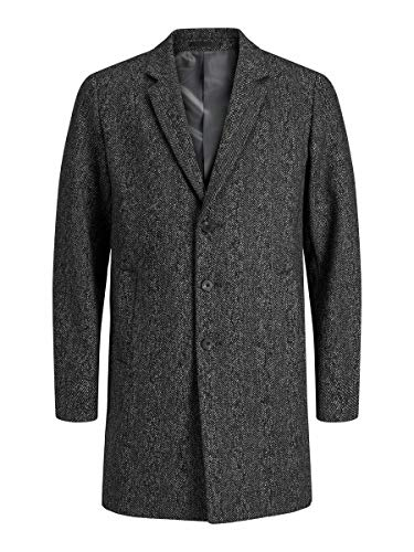 Jack & Jones JJEMOULDER Wool Coat STS Chaqueta, Caviar, S para Hombre