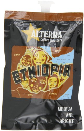 FLAVIA ALTERRA Coffee, Ethiopia, 20-Count Fresh Packs (Pack of 5)