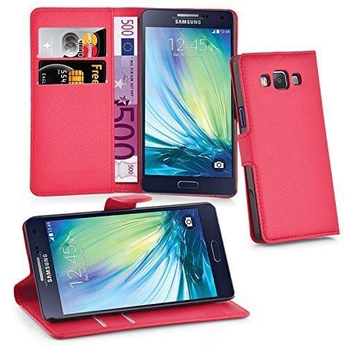 Cadorabo Funda Libro para Samsung Galaxy A5 2015 en Rojo Carmin – Cubierta Proteccíon con Cierre Magnético, Tarjetero y Función de Suporte – Etui Case Cover Carcasa