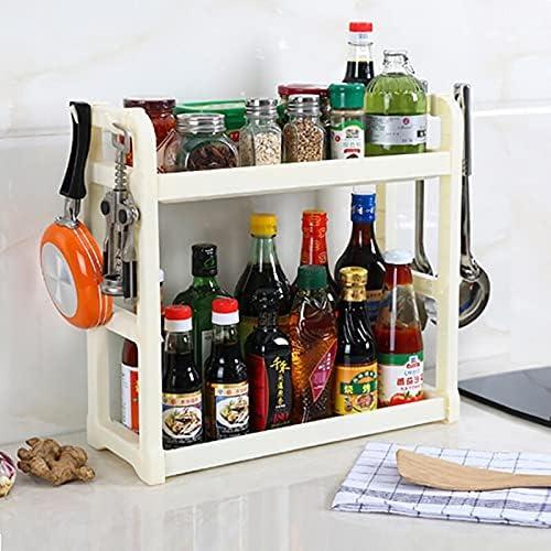 Double Layers Plastic Storage Ranking TOP1 Max 47% OFF Rack Spice Jar Seas Kitchen Bottle