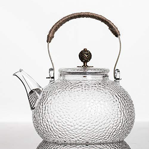 Glas-Teekanne Glas Wasser-Krug Glas Teebecher (700ml),Borosilikatglas, hitzebeständig und spülmaschinengeeignet,für Obst-Tee-Container und blühende Teekanne