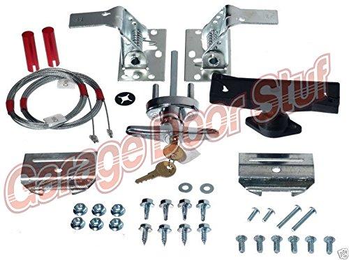 (RB) Garage Door Lock Kit w/Spring Latch - Keyed in Handle-UNIVERSAL- All Doors