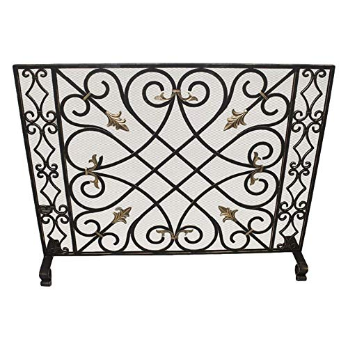 For Sale! MY SWANKY HOME Old World Classic Iron Fireplace Screen Scroll Arrow Bronze Gold Firescreen