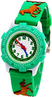 Hemobllo Kids Wrist Watch 3D Silicone Watch Cartoon Waterproof Wrist Watch Girl Boys Child Kids (Green)