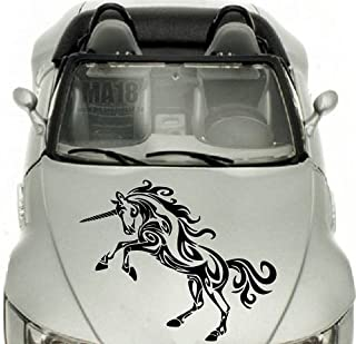 In-Style Decals Vehicle Auto Car Décor Vinyl Decal Art Sticker Unicorn Horse Tribal Removable Design for Hood 1039