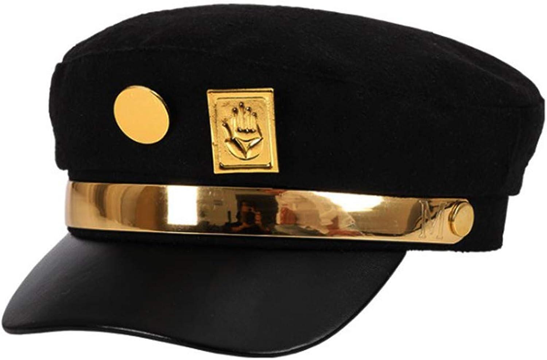Teens Jotaro Cosplay Visored Baseball Cap Hat Props Black