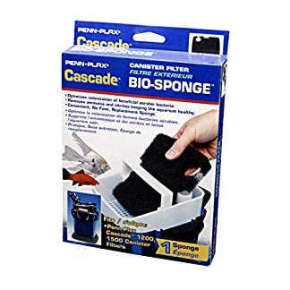 Penn-Plax Cascade 1200/1500 GPH Canister Filter Aquarium Bio Sponge Replacement; 1 Pack 13