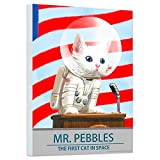 Fallout Poster Wall Art Set - Mounted Fallout Mr. Pebbles Print (8'x11') (Fallout Room Decor)