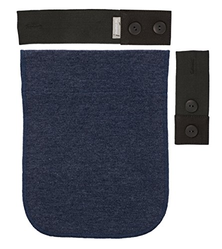 Be! Mama Gummi-Schwangerschaftsgürtel-Verlängerungsset für Hosen, 2 bis 18 cm, Blau