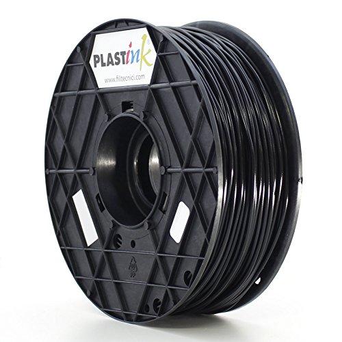Plastink ABS300BK1 Filamento per Stampante 3D in ABS, Diametro 3 mm, Nero