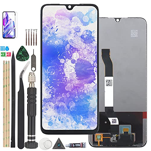 RongZy Pantalla para Xiaomi Redmi Note 8 M1908C3JH M1908C3JG Pantalla Táctil LCD Kit de Pantalla de Repuesto Ensamblaje Digitalizador de Reemplazo con Herramientas(Negro)