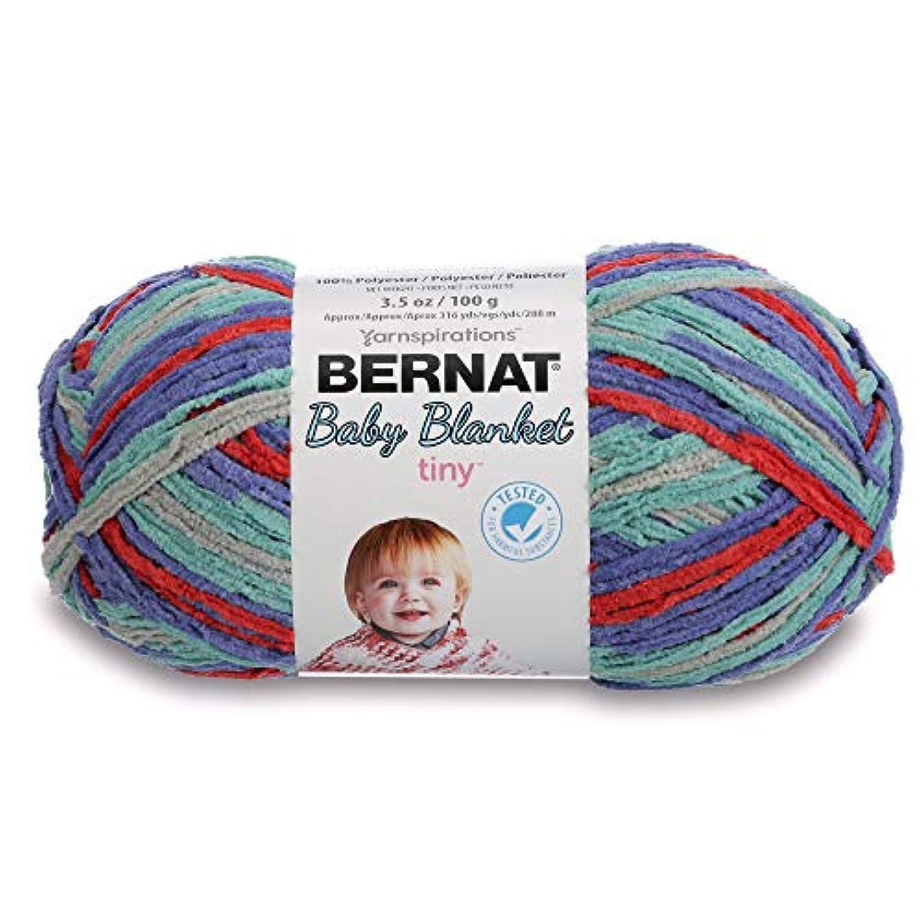 Bernat Baby Blanket Tiny Yarn, 3.5 oz, Gauge 4 Medium, Calico Quilt