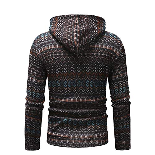 MENHG Men's Knitted Sweatshirts Hoodies Hoody Thick Warm Fleece Hooded Men Long Sleeve Drawstring Solid Colour Retro Casual Sports Hoody Jumper Knitwear Sweater Pullover Jacket Top Blouse Coat Outwear