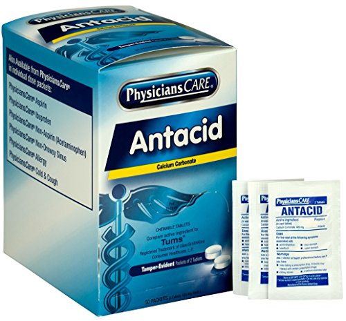 PhysiciansCare Antacid Heartburn Medication Compare to Tums 50 Doses of Two Tablets 420 mg