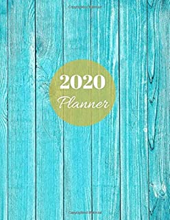 2020 Planner: Stylish sky blue Daily, Weekly And Monthly Calendar Schedule With Tabs. Jan 2020 - Dec 2020 Year Organizer With To Do list Academic ... Turquoise beach themed gift for ocean lover
