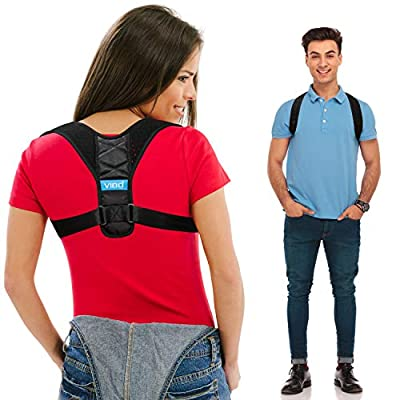 """Posture Corrector for Men and Women - Upper Back Straightener Brace, Clavicle Support Adjustable Device for Thoracic Kyphosis and Providing Shoulder - Neck Pain Relief(Fits Chest Size 35"""" - 41"""")"""