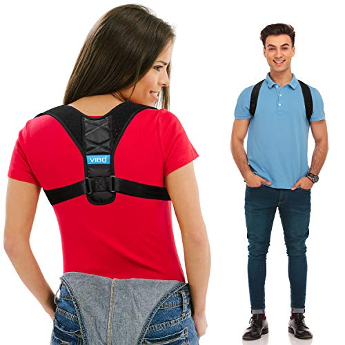 "Posture Corrector for Men and Women - Upper Back Straightener Brace, Clavicle Support Adjustable Device for Thoracic Kyphosis and Providing Shoulder - Neck Pain Relief( Fits Chest Size 35"" - 41"")"
