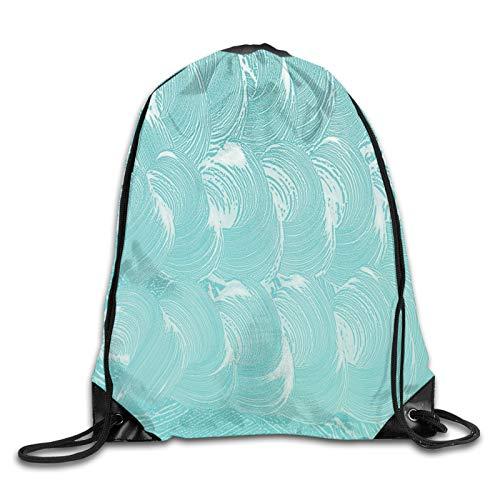 Bolsa con cordón para gimnasio, espuma y jabón carbonatado, diseño de champú de pureza, mochila con cordón, mochila de gimnasio, mochila de hombro para hombres y mujeres