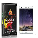 Screen Protector for Huawei P8 Lite 2015 / Huawei P8 Lite 2016, Bear Village Bubble Free Screen Protector Film for Huawei P8 Lite 2016, 9H Hardness Tempered Glass, Drop Fall Protection, 2 Pack