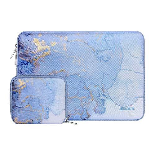 MOSISO Laptop Hülle Kompatibel mit 13-13,3 Zoll MacBook Pro, MacBook Air, Notebook Computer, Wasserabweisende Neoprene Aquarell Marmor Tasche mit Klein Fall