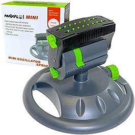 MAXFLO Arroseurs pour jardin | Arroseurs d'eau robustes pour pelouse | Tuyau oscillant rotatif à 360 degrés | Large zone…