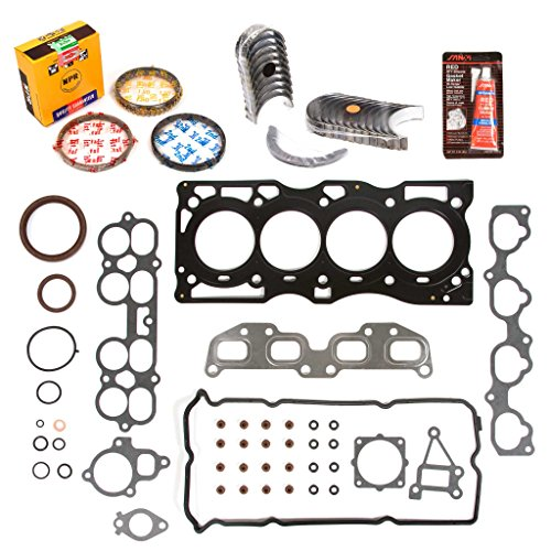 Price comparison product image Evergreen Engine Rering Kit FSBRR3032 Compatible With 02-06 Nissan Altima Sentra 2.5 QR25DE Full Gasket Set,  Standard Size Main Rod Bearings,  Standard Size Piston Rings