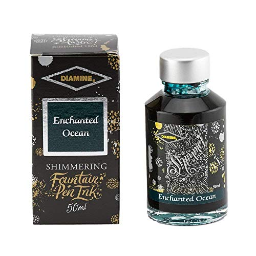 Diamine Fountain Pen Bottled Ink, 50ml - Shimmering Enchanted Ocean