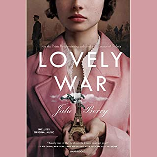 Lovely War                   Written by:                                                                                                                                 Julie Berry                               Narrated by:                                                                                                                                 Jayne Entwistle,                                                                                        Allan Corduner,                                                                                        Julie Berry,                   and others                 Length: 12 hrs and 57 mins     1 rating     Overall 5.0