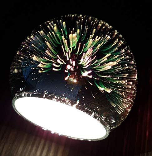 Lampenschirm 3D Effekt Feuerwerk E14 Firework Glas Ersatzglas Schirm Ersatzschirm Lampen modern stylisch future Designglas für Pendellampe, Tischlampe, Fluter, Leuchte