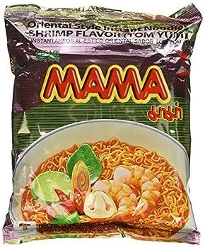 Mama Instant Ramen Noodle Tom Yum Shrimp Flavour  Pack of 30 ,Original,58.2 Ounce