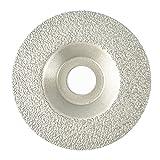 NBB Disco de diamante soldado, alta eficiencia y larga vida, amolado en granito, mármol, cerámica, baldosas, porcelana, piedra natural,en seco, eje 22.23 mm, conectado a amoladora angular(Grueso, 1)