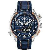 Men's Citizen Eco-Drive Promaster SST Blue Leather Strap Watch JW0139-05L