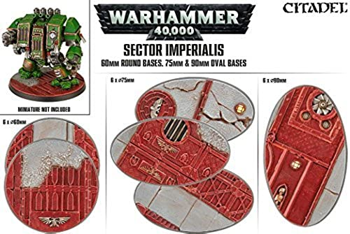 Sector Imperialis 60mm Round Bases, 75mm and 90mm Oval Bases by Citadel Scenery & Terrain